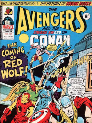 Marvel UK, Avengers #124, Red Wolf
