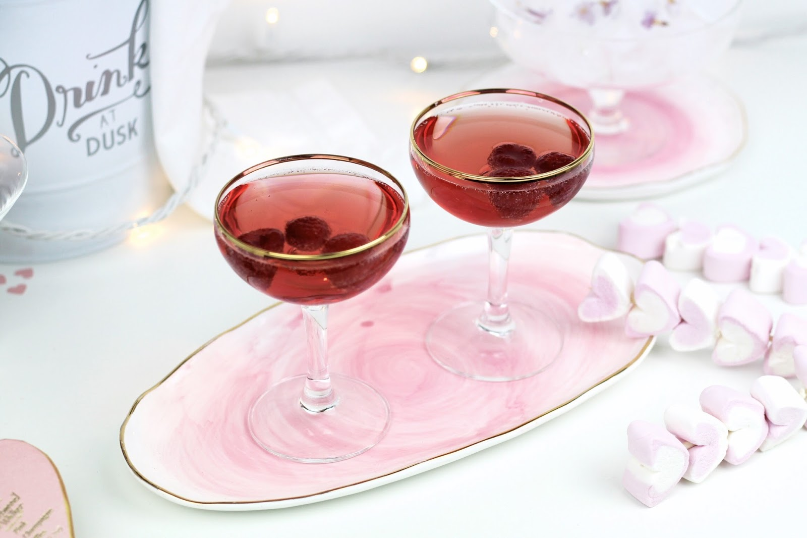 Valentine's Day Pretty Drink Presentation