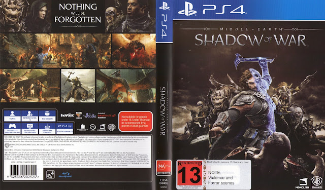 Capa Middle-Earth: Shadow Of War PS4