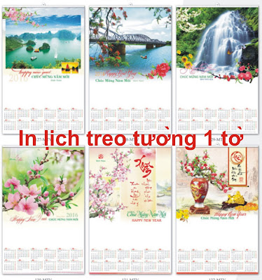 in lịch nẹp thiếc 1 tờ
