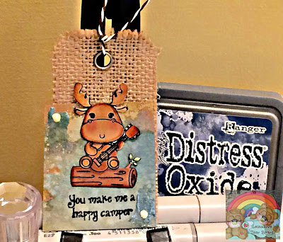 Happy Camper Moose Tag (Crafting Desert Diva Guest DT project 1 of 4