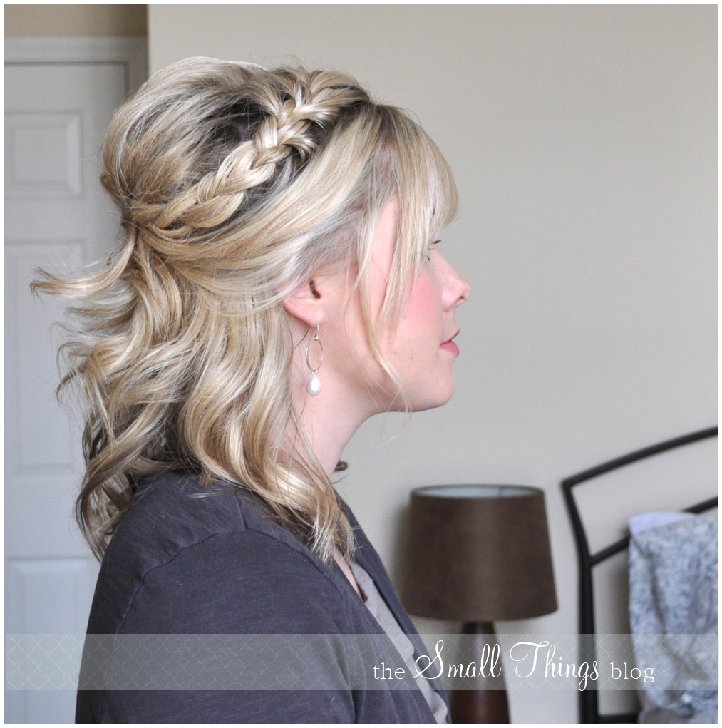 The Small Things Blog: Half French Braid Half Up