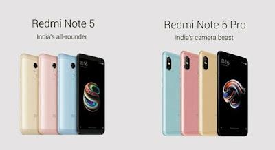 Xiaomi Redmi Note 5 vs Xiaomi Redmi Note 5 Pro
