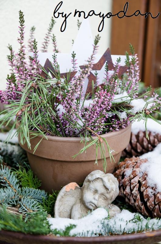 unser weihnachtlich dekorierter hauseingang mayodans home garden crafts. Black Bedroom Furniture Sets. Home Design Ideas