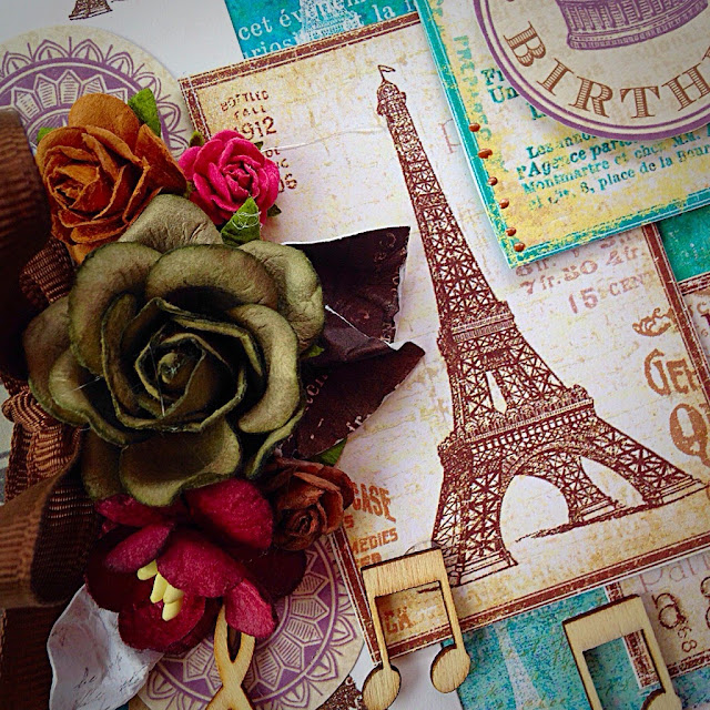 Scrapbooking card Paris