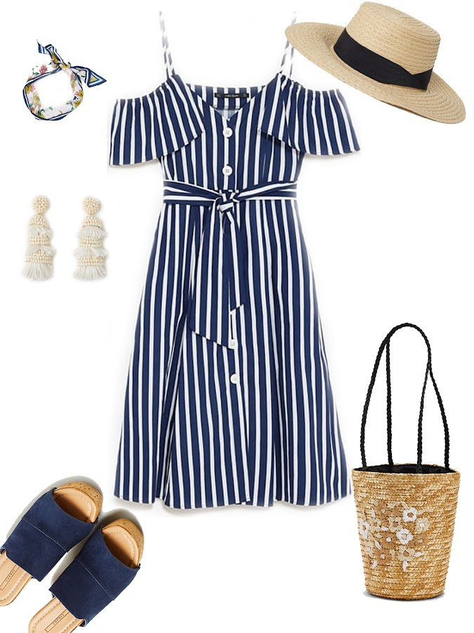 Summer navy outfit