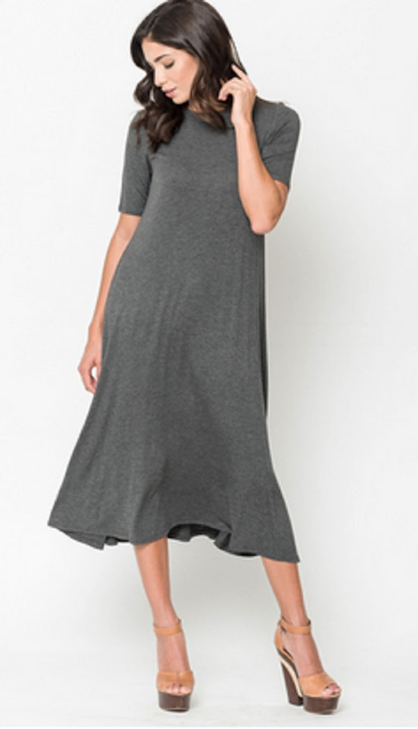midi swing dress