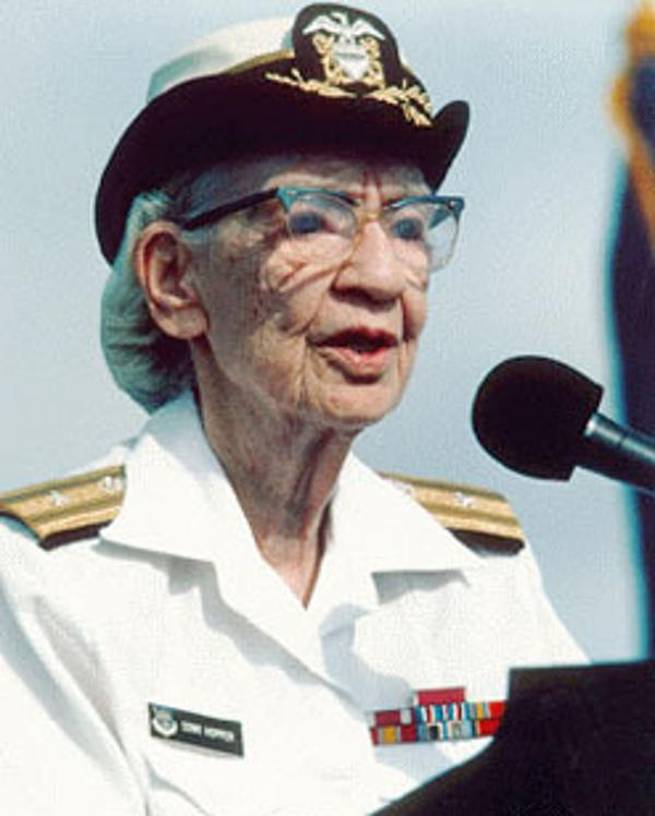 "Admiral ""Amazing Grace"" Hopper, pioneering computer programmer"