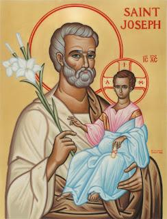 St. Joseph holding Christ