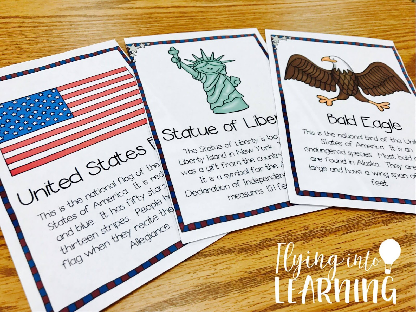 Teaching Ideas For American Symbols Flying Into First Grade