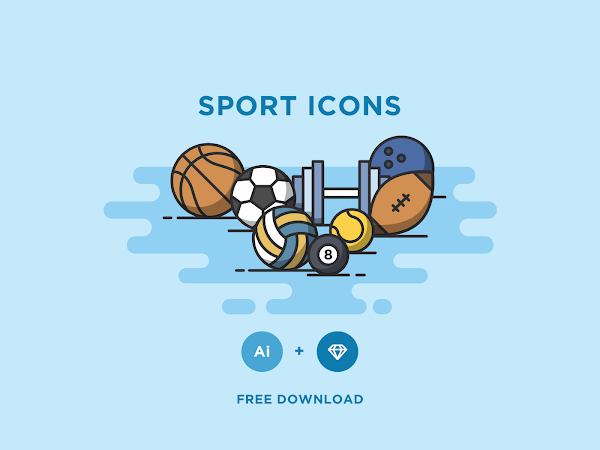 Download Vector Sports Icons Set Free