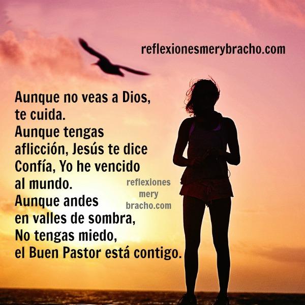 Reflexión cristiana por Mery Bracho, imagen con frases cristianas, mensaje corto cristiano para amigos.