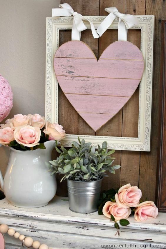 PRETTY IN PINK & GRAY: VALENTINE'S DAY MANTEL