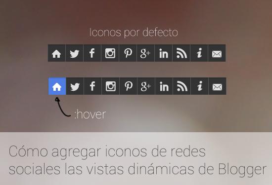 Demostración iconos de redes en vistas dinamicas