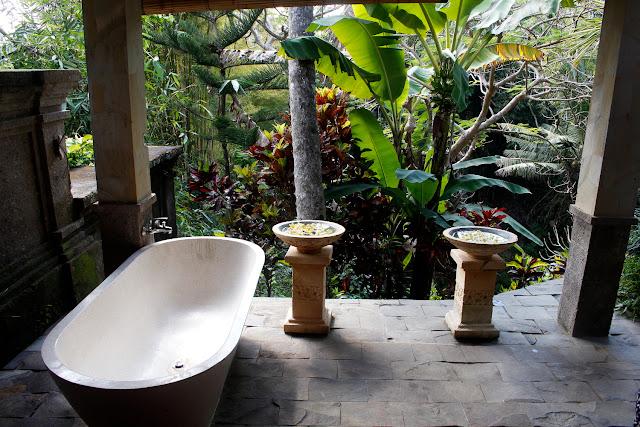 Parte de la sala de masajes del hotel Bunga Permai (Ubud)