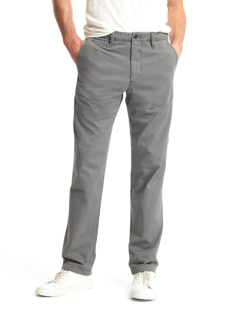 Vintage washed straight fit khakis 02