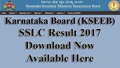 Karnataka Board  SSLC Result 2017