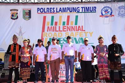 Millennial Road Safety Festival Lampung Timur Dipusatkan di Way Jepara