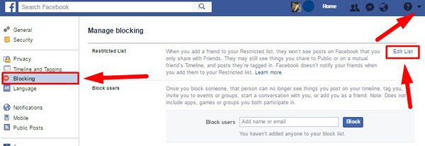 restricting someone on facebook