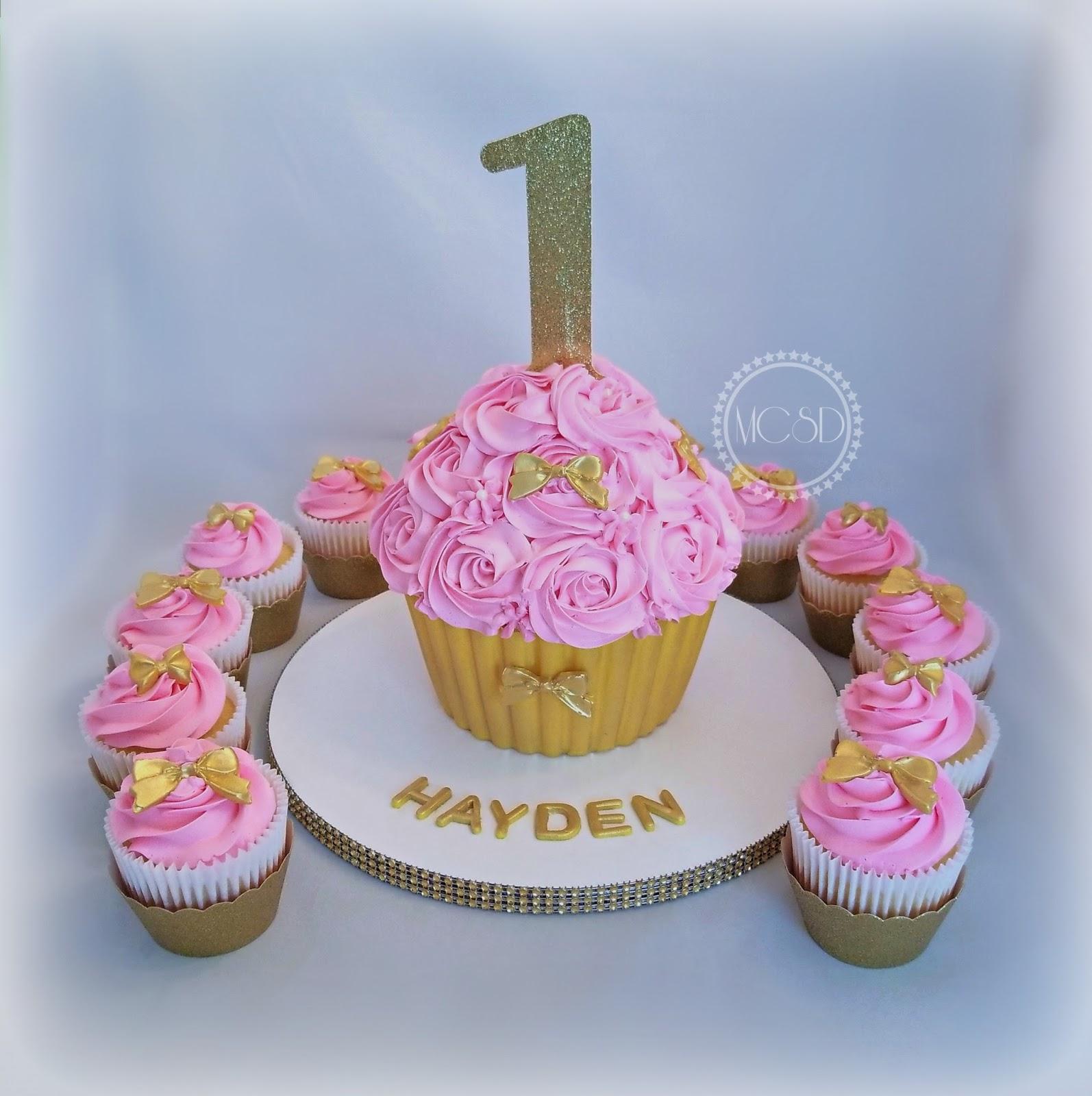 Super Cakesbyzana 1St Birthday Cupcake Cake Cupcakes Funny Birthday Cards Online Alyptdamsfinfo