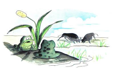 fabula las ranas y los toros
