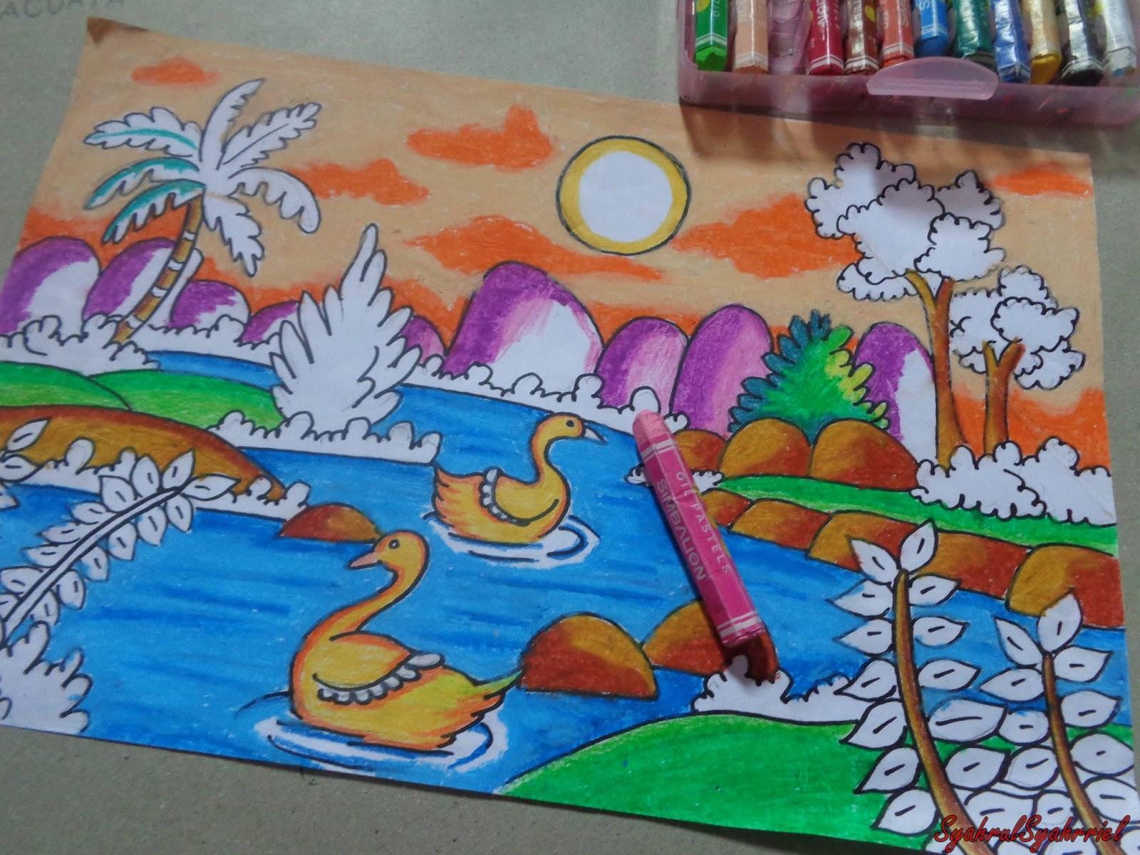 Lihat Lukisan Crayon Pastel April 2016 Proses Karya