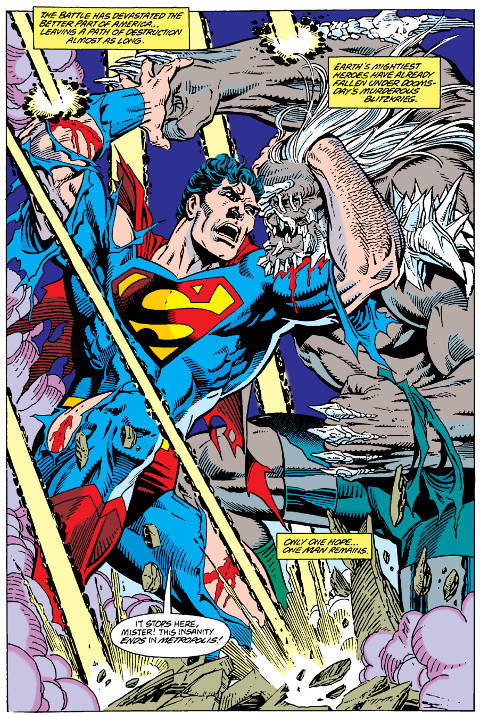 Deadly duel in The Death of Superman Comic PDF