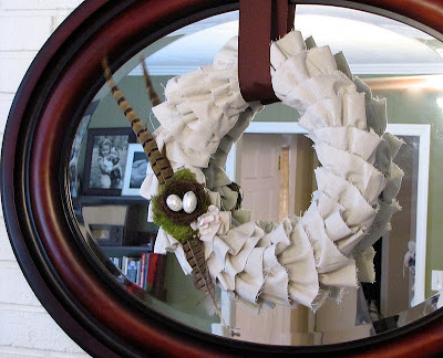 how to make a ruffle wreath using canvas drop cloth