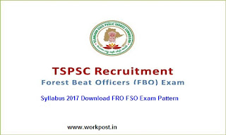 TSPSC Forest Beat Officer Exam Syllabus 2017