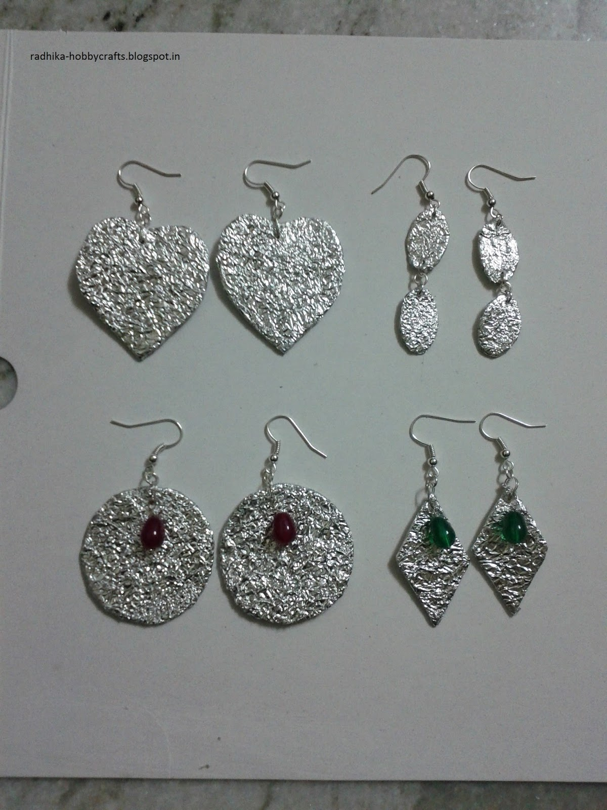 Hobby Crafts :): Aluminium foil earrings