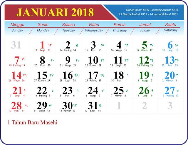 sudah aku berikan pada postingan sebelumya dalam bentuk file PDF Template Kalender 2018 GRATIS untuk perjuangan percetakan anda !