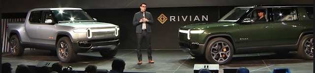 top electric suvs, Rivian r1t and r1s