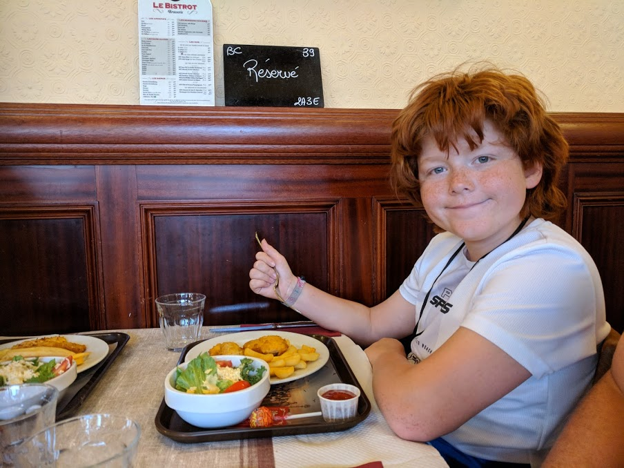 Puy du Fou Theme Park, France - kids meal at le bistrot restaurant