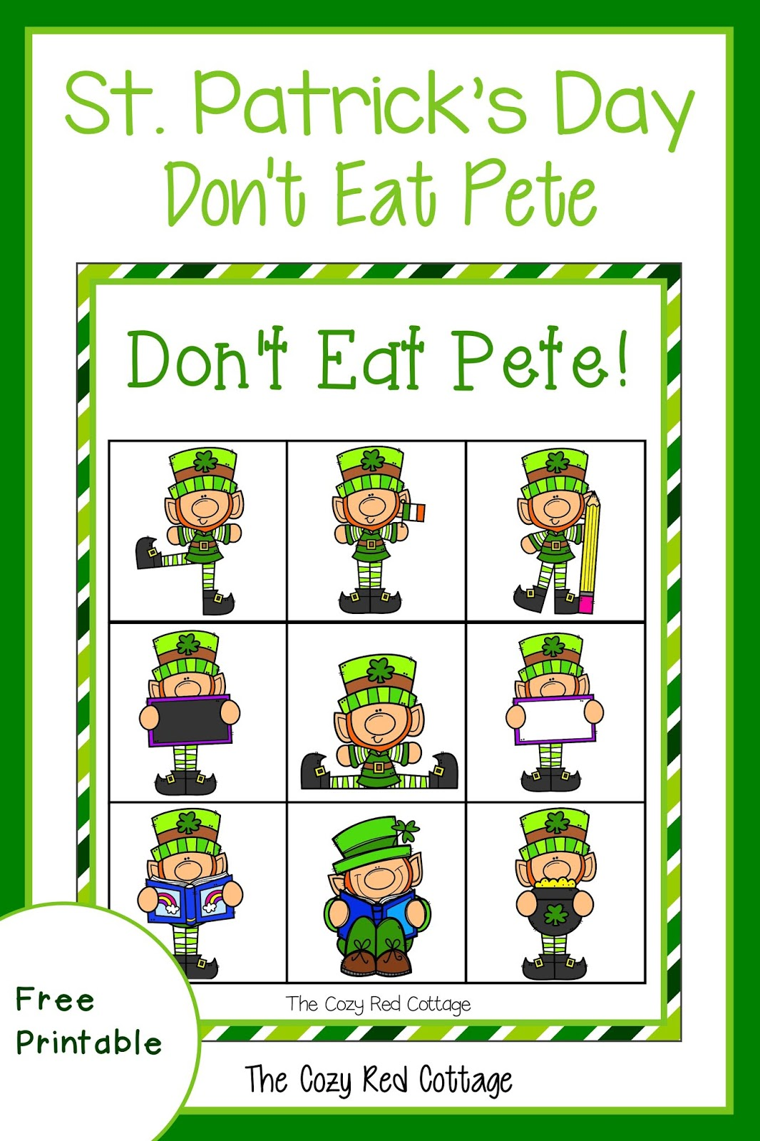graphic about Don't Eat Pete Printable identified as The Relaxed Purple Cottage: St. Patricks Working day Dont Take in Pete!