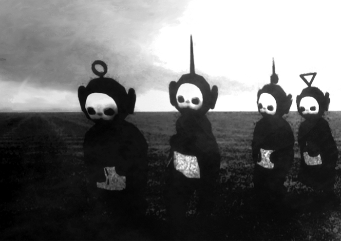 Teletubbies-in-Black-White-Look-Like-A-Horror-Show