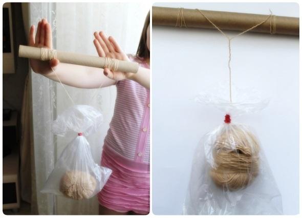 separar hebras de lana, truco madejas de lana, hacer varias hebras de una