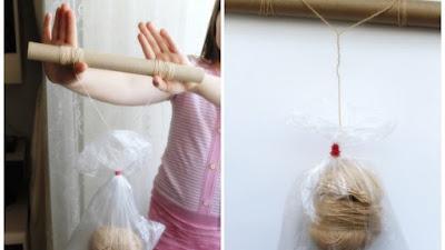 Cómo dividir un hilo grueso de lana en varios hilos