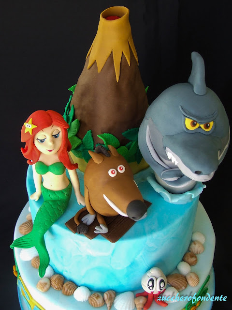 Zuccherofondente zig sharko cake for Zig e sharko