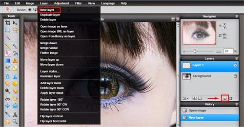 Cara mengganti  Warna Mata Dengan Editor Foto Online