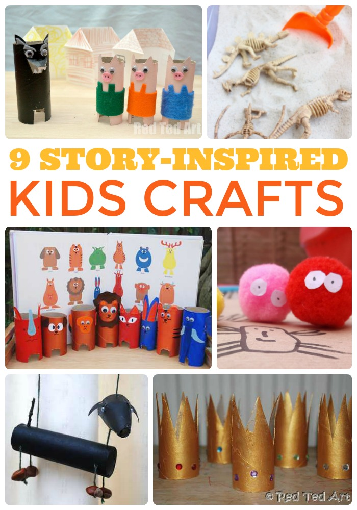 9 Story Inspired Kids Crafts