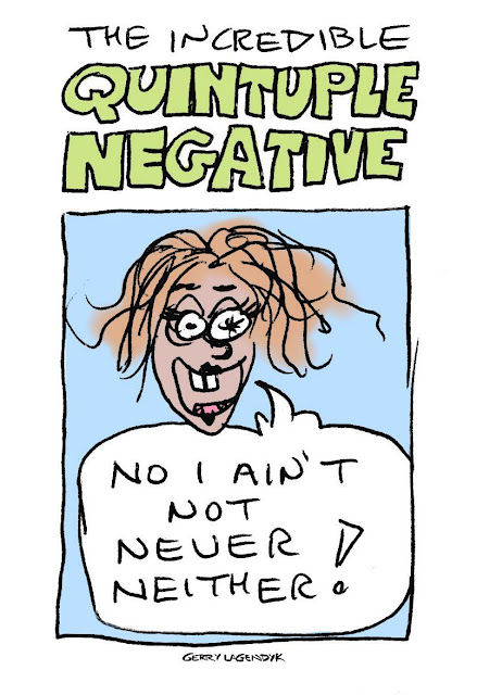 quintuple negative grammar cartoon
