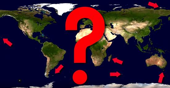 Qual foi o 1º e o último lugar no planeta descoberto pelos humanos?