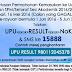 Semakan Keputusan UPU  IPTA (UPU Result) 2018