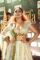 Apoorva Spicy Pics in Cream Deep Neck Choli Ghagra WOW at IIFA Utsavam Awards 2017 113.JPG
