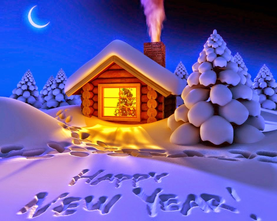 New Year 2019 Snow Fall Night Pics 1080p