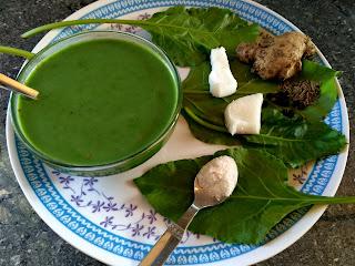 Paalak greens soup