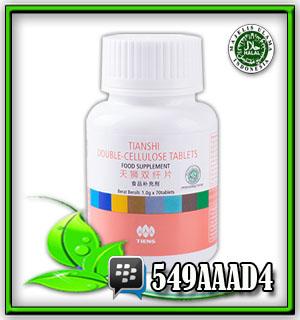 double cellulose tianshi, herbal pembesih usus, mengobati kanker usus, pelangsing badan