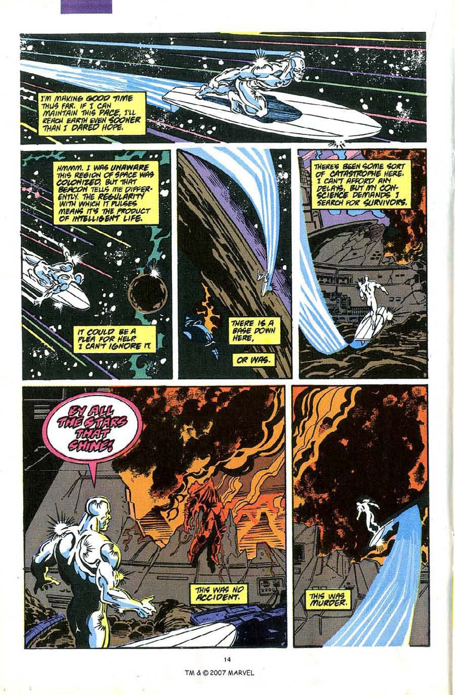 Read online Silver Surfer (1987) comic -  Issue #49 - 16