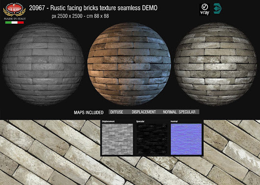 New amazing Facing bricks textures seamless and maps