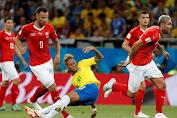 Laga Sengit Brasil Vs Swiss Berakhir Imbang 1-1
